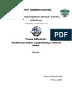 Recubrimientos Metálicos y Por Conversión Química