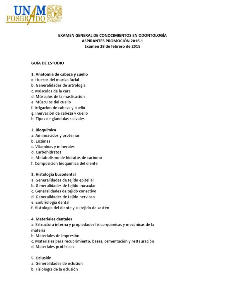 Exam.general Conoc UNAM