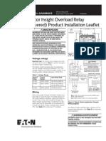 C441 Motor Insight Overload Relay