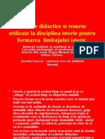 Metode Didactice La Disciplina Istorie
