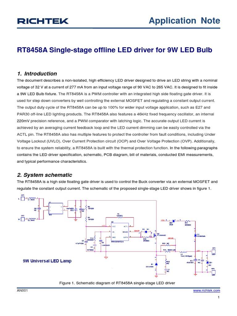 Led Driver 1352720124883 Light Emitting Diode Electronic Circuits Bulb Circuit Diagram Lamp