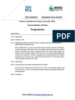 Programme APIZALS in Madryn