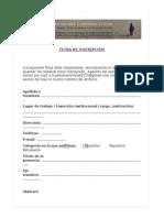 Ficha de Inscripción Cuestiones Críticas