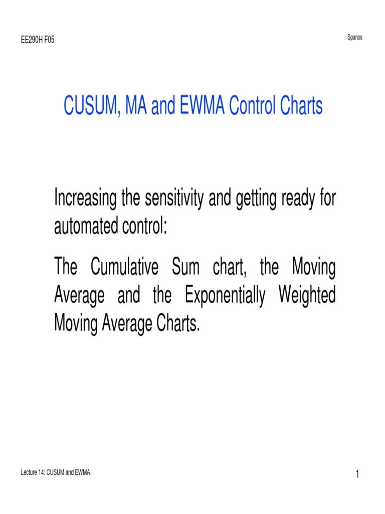 Lecture 14 CUSUM and EWMA | Descriptive Statistics | Statistics