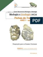 Ficha de Trabalho 2 - Biologia e Geologia 10º e 11ºano