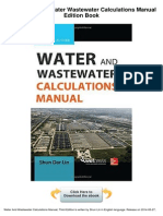 Water Wastewater Calculations Manual Edition Libre
