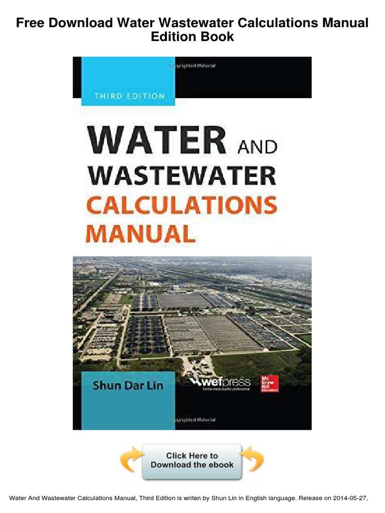 Water Wastewater Calculations Manual Edition Libre | Sewage