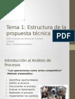 Tema 1 Estructura de La Propuesta Tecnica