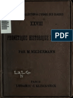 NIEDERMANN, Max. Phonetique Historique Du Latin