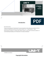 Uni-T Utd2000l series digital storage oscilloscope user manual