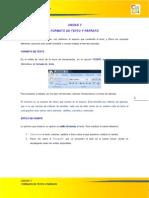 formato de texto y parrafo
