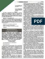 DS que modifica el Texto Único Ordenado Del Reglamento Nacional de Tránsito (2015)