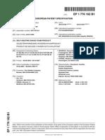 Patente de Espuma de Afeitar