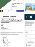 [Desenho Técnico] Aula 10 - Sistemas de Projeções Ortogonais