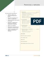 Material Teorico Practico Potencias y Raices. 3rd Year.