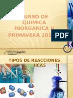 Curso de Primavera Quimica Inorganica II 2013-1