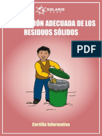 Cartilla Disposición Adecuada de Los Residuos Sólidos