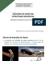 Capitulo 3 - Reacces de Apoio Em Estruturas Isostaticas - Apresentacao 2015