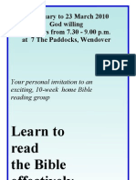Amersham Home Seminar Brochure 2010