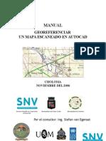 SIG PC CHO Manual Georeferenciar Un Mapa Escaneado en AutoCAD