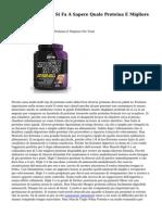 Relazione Speciale Si Fa A Sapere Quale Proteina E Migliore Per Voi