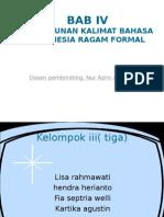 Bab IV Ragam Bahasa Formal