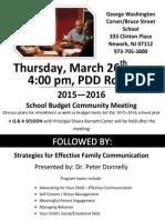 school budget community meeting march 26