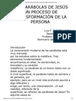 Garcia-Viana Luis - Las Parabolas de Jesus Un Proceso de Transformación de La Persona