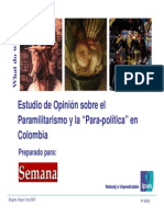 Encuesta Sobre Parapolítica. Revista Semana