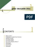 Holographic Versatile Disc1