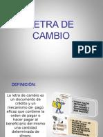 Diapositivas de Letra de Cambio