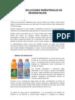 Bebidas y Soluciones Parenterales de Rehidratación