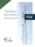 UNATEL Procedimiento de Tráfico vs Distancia 3G