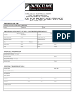 ApplicDirectline Finance - Mortgage Finance Application Formation for Mortgage Finance