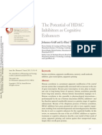the potential of hdac inhibitors as cognitive enhancers
