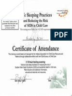 safe sleep practices - huffer ccr&r, training