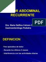 Dolor Abdominal Recurrente-dra. Cetraromayo 2006