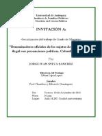 Invitacion Jorge Ivan Sylva Sanchez