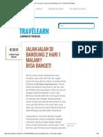 The TraveLearn _ Jalan-Jalan di Bandung 2 Hari 1 Malam_ Bisa Banget!.pdf
