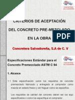 Criterios de Aceptación Del Concreto en La Obra
