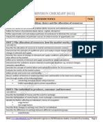 Igcse Economics Revision Checklist