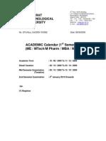 AcademicCalander PG 090908