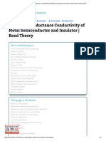 Electrical Conductance Conductivity of Metal Semiconductor and Insulator _ Band Theory _ Electrical4u