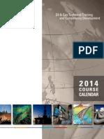 NExT Oil and Gas Course Calendar 2014