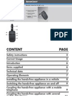 Bluetooth® Hands-Free Kit SBTF 10 B2