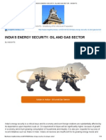 India's Energy Security_ Oil and Gas Sector - Insights
