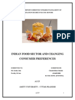 863. Indian Food Sector and Changing Consumer Preferences