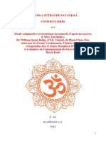 Commentaires des yogas sutras de Patanjali - Cédric Métral