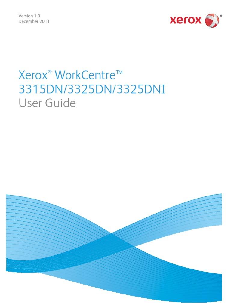 Xerox workcentre 3315 scan to folder