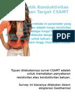 Karakteristik Konduktivitas Batuan Target CSAMT